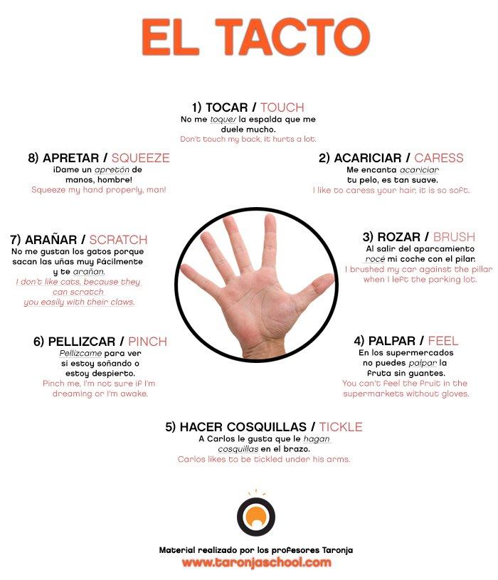 Expresiones en español relacionadas con el tacto