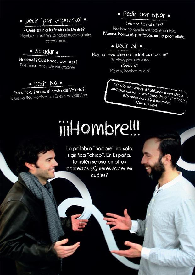 Expresiones en español con HOMBRE 1